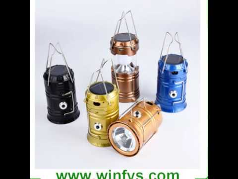 Multifunctional Portable Collapsible Retractable Rechargeable LED Solar Camping  Lamps Lanterns Light