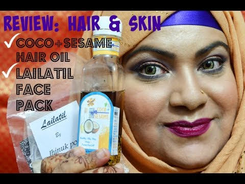 Coco+Sesame Hair Oil & Lailatil Face Pack Review | Being Alive And Living