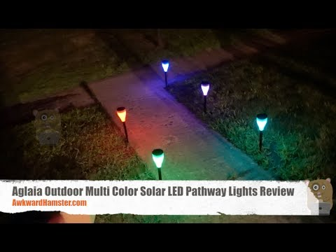 Aglaia Outdoor Multi Color Solar LED Pathway Lights Review