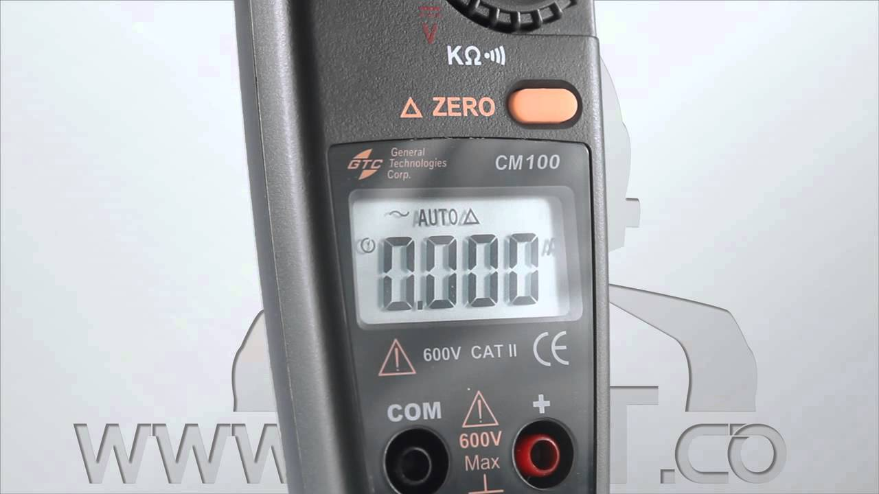 GTC CM100 Low Current Clamp Meter - YouTube