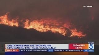 2 firefighters critically injured battling Silverado Fire in Orange County