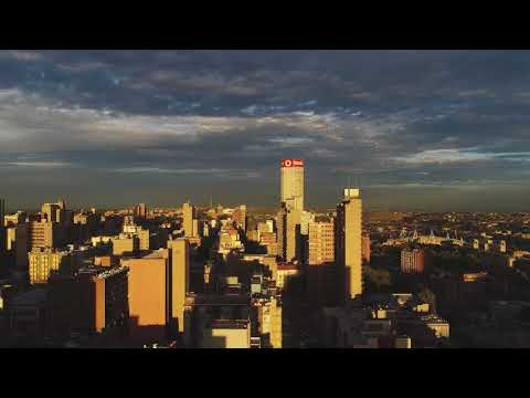 Drone shots taken throughout Johannesburg