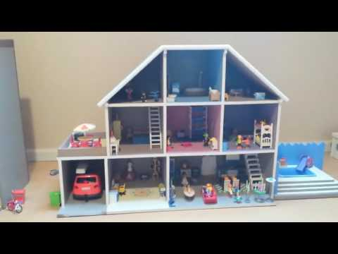 playmobil pr sentation de 2 maisons en bois pour les. Black Bedroom Furniture Sets. Home Design Ideas