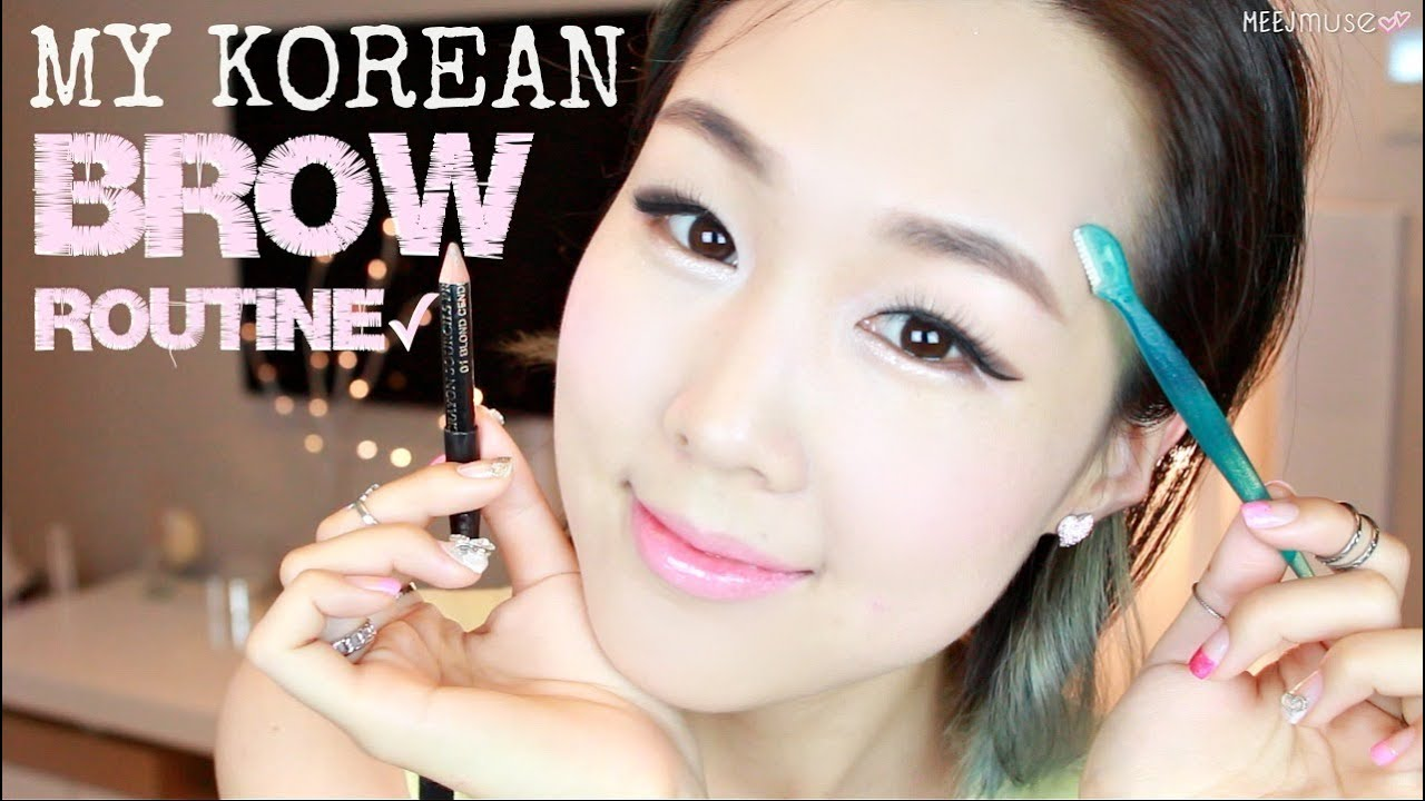 Easy Natural Korean Brows In 3 Minutes Shaping Grooming Drawing