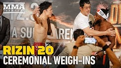 RIZIN 20 Ceremonial Weigh-ins - MMA Fighting