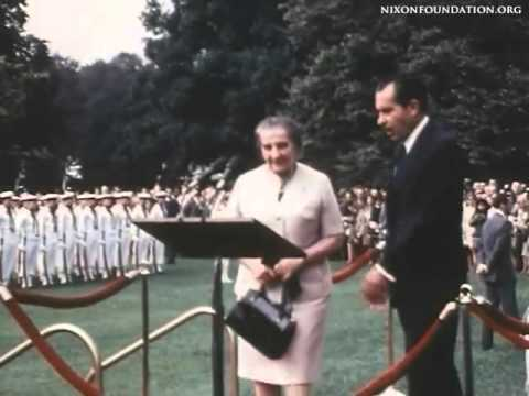 Israeli Prime Minister Golda Meir at the White House, 1969
