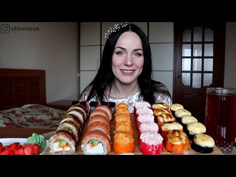 MUKBANG | Суши/роллы  | | Sushi rolls | не ASMR