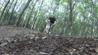 QECP (Queen Elizabeth Country Park) MTB Red Trail - Sept 2012 - Contour  HD