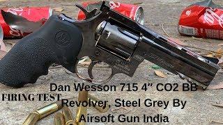 Dan Wesson 715 4″ CO2 BB Revolver by  Airsoft Gun India Firing test