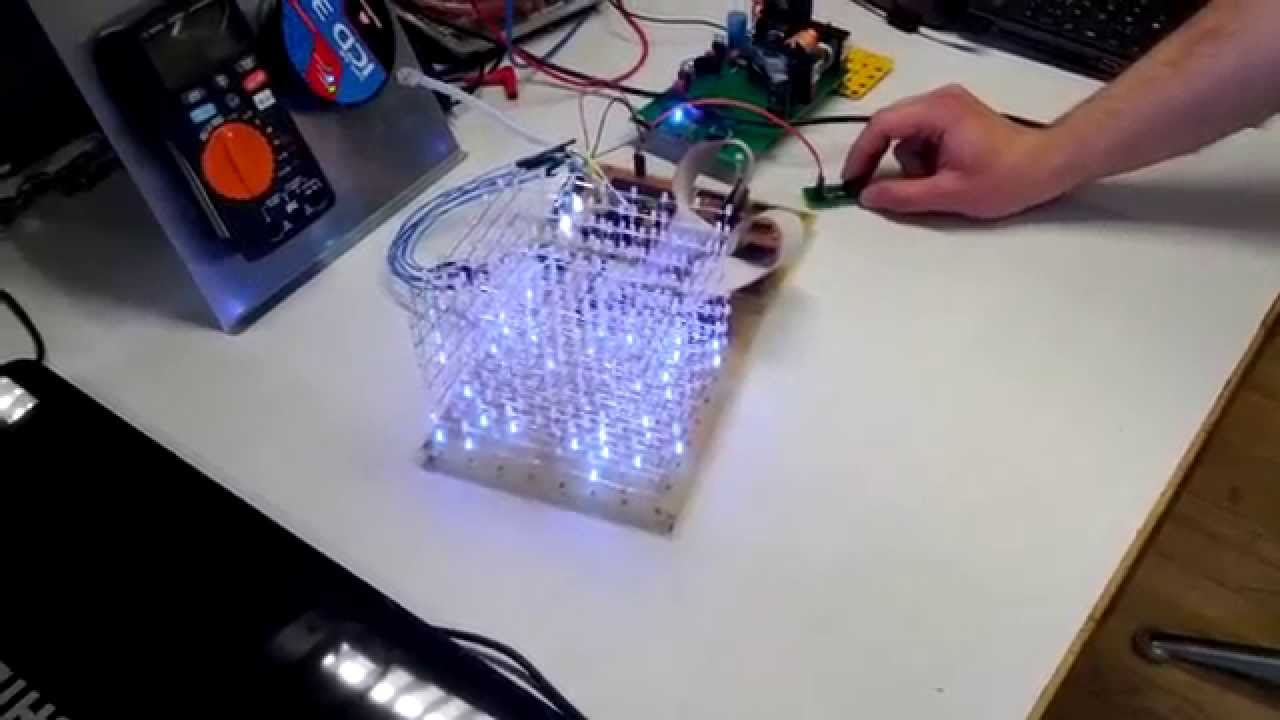 Led Cube 8x8x8 By Hubert Woszczyk Pdf Matrix Controller 5x5x5