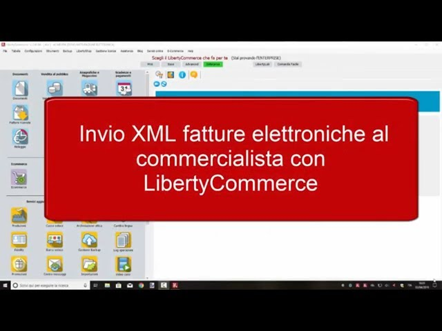 Invio XML fatture al commercialista - LibertyCommerce Academy