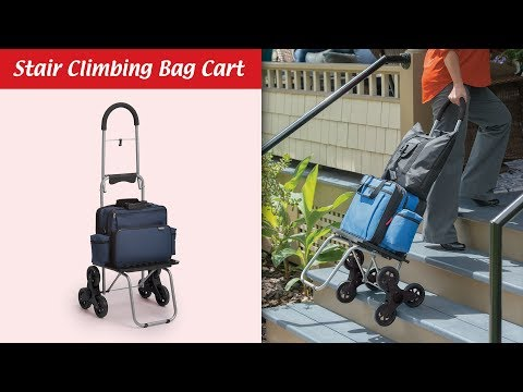 How the Stair-Climbing Bag Cart Makes Going Up and Down Step