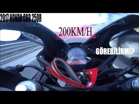 2017 HONDA CBR 250R Top Speed ? 200KM/H Görebilir mi ?