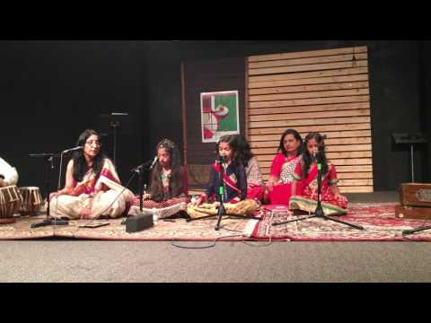 ICMC Art Stage - Agam Saras ( Raag Bhairav) by Anisha, Arya and Revati