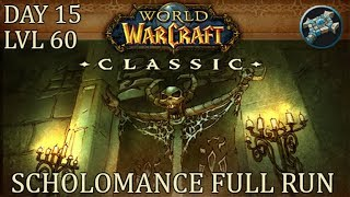 Level 60 In 15 Days! Scholomance Dungeon Run | WoW Classic Gameplay | Priest