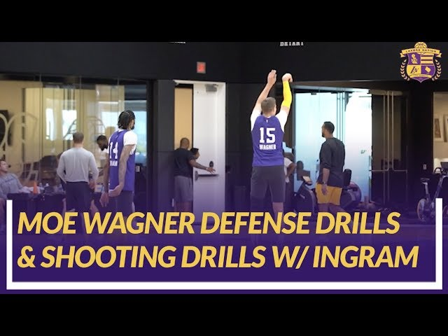 lakers-practice-rookie-moe-wagner-back-on-court-doing-defensive-drills-and-shooting-with-ingram