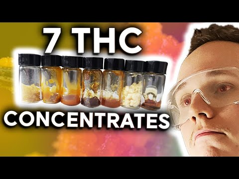 How to make THC Vape Oil with 7 different Cannabis Concentrates