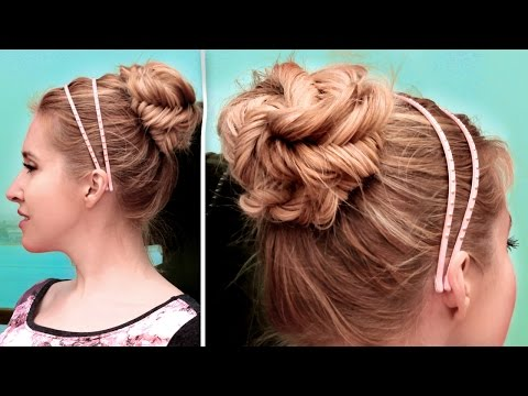 Fishtail Braided Updo Hairstyle ★ Cute, Quick And Easy Hair Tutorial