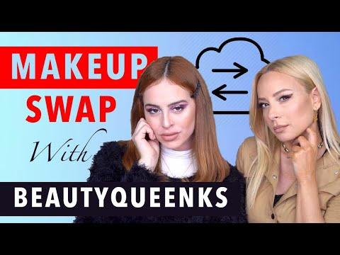 Ανταλλάσσουμε μακιγιάζ | Q&A | ft Beautyqueenks | Gina