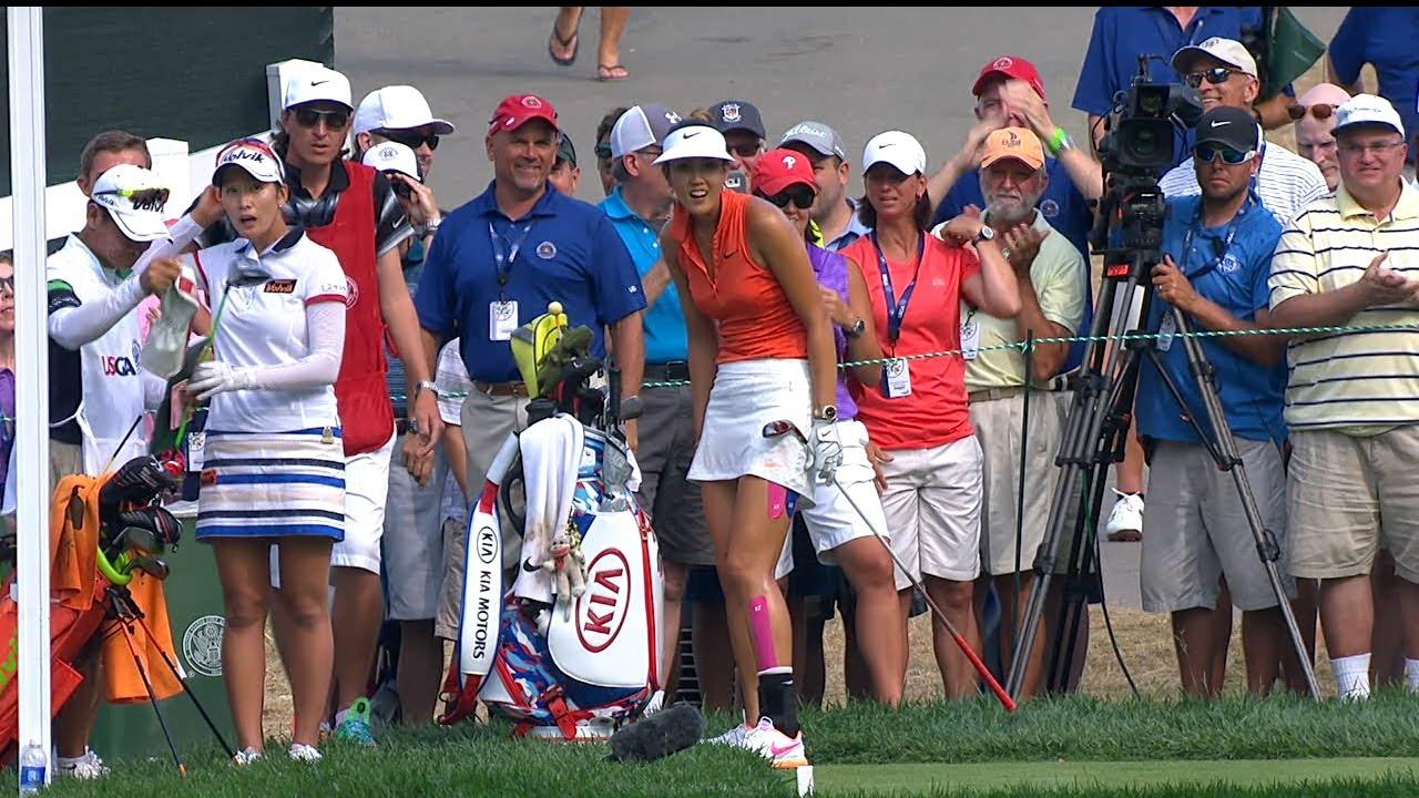 Michelle Wie's Near Ace... On a Par 4!?!? (2015 U.S. Women's Open)