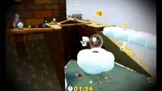 Super Mario Galaxy 2 - Throwback Galaxy - Whomp Silver Star Speed Run - 48.05