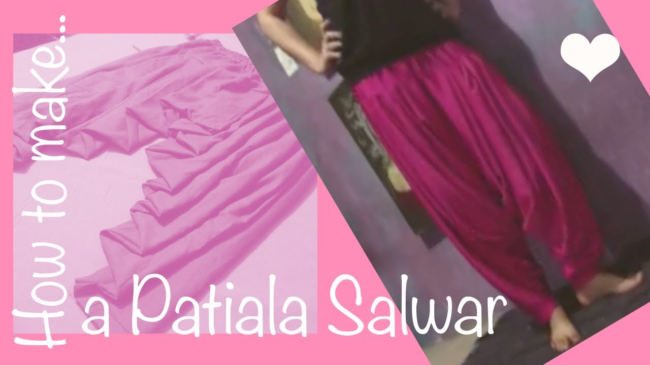 How to cut and stitch patiala salwar - Simple Craft Ideas