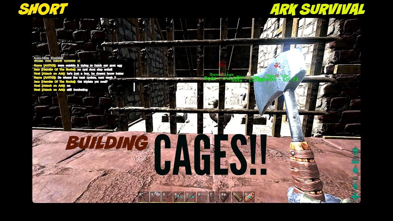 Guide on how to build cages in ark survival youtube guide on how to build cages in ark survival malvernweather Gallery