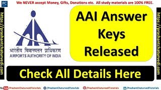 AAI Answer Keys Released | AAI Response Sheet Released | Check All Details Here |