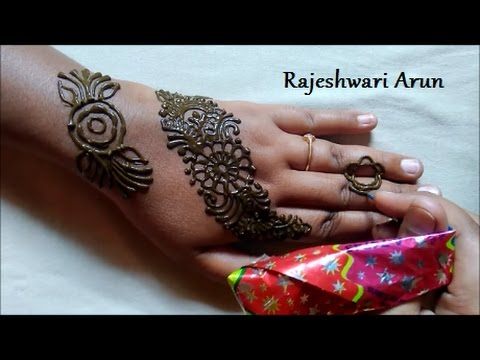 Mehndi Bracelet Designs 2016 : Simple easy bangle henna mehndi design for hands mehindi