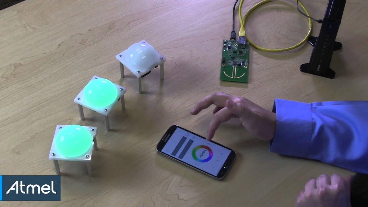 atmel zigbee light link system demonstration youtube. Black Bedroom Furniture Sets. Home Design Ideas