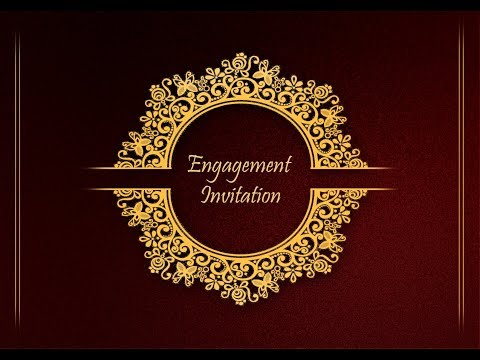 Adobe Photoshop How To Design Front Page Of Engagement Invitation Card