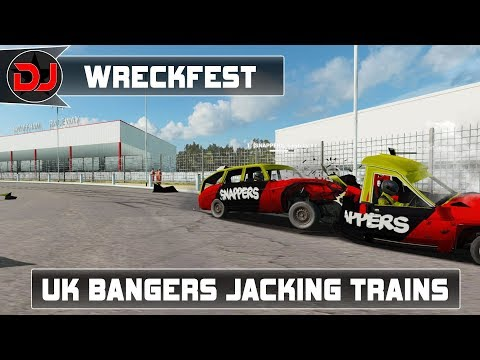 Wreckfest - Banger Racing Crashing Cars And Jacking Trains!(with the lads)