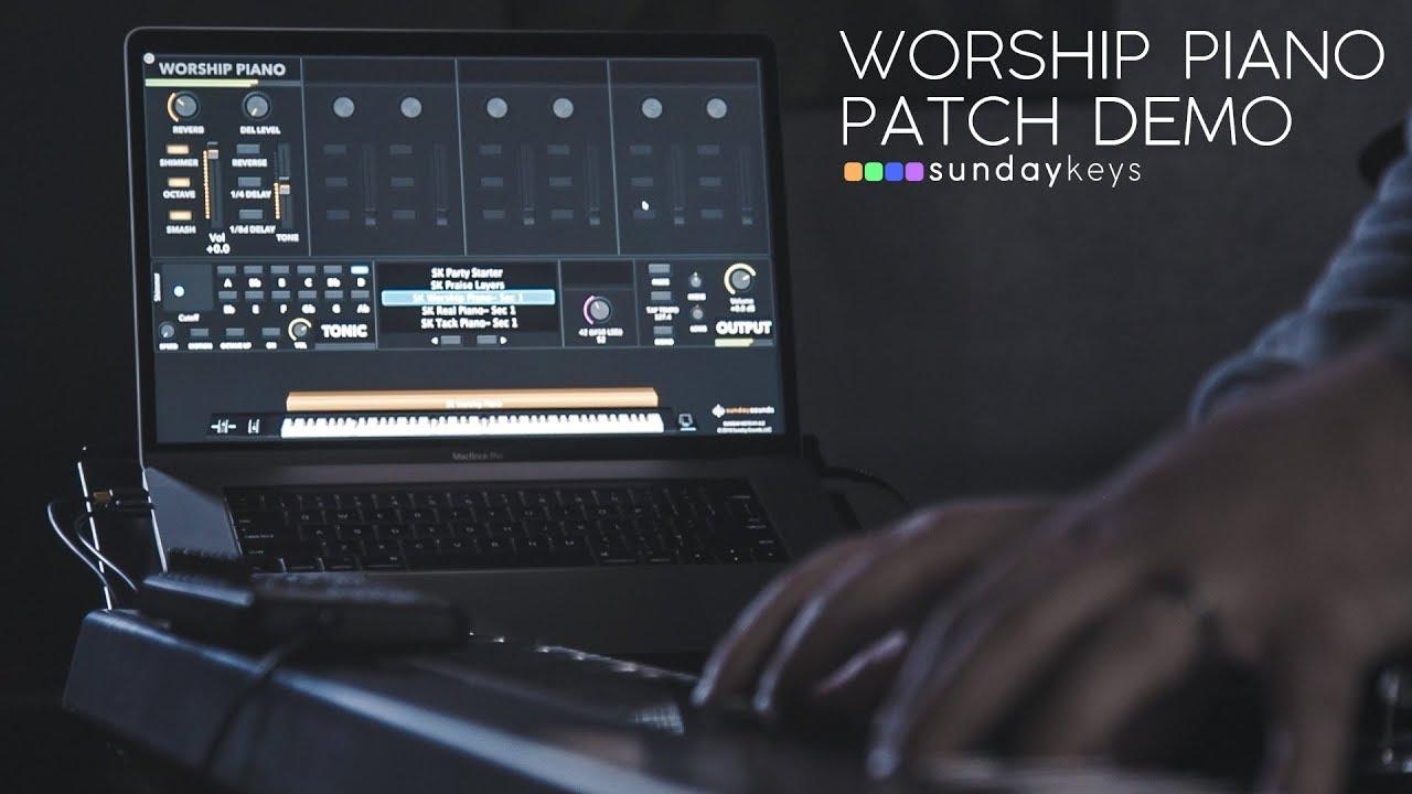 Worship Piano - Sunday Keys MainStage Patch Demo! — Worship