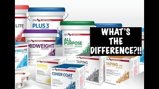 DIFFERENT TYPES OF DRYWALL MUD