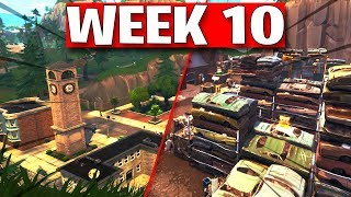 FORTNITE SEASON 8 WEEK 10 LEAKED CHALLENGES! WEEK 10 ALL CHALLENGES EASY GUIDE SEASON 8 - (Fortnite)
