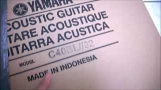 Yamaha C40-BL: Quick Unboxing