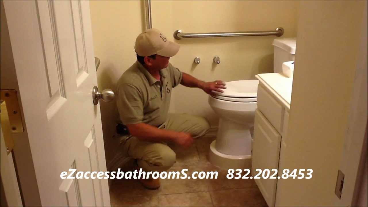 eZaccessbathroomS.com toilet platforms.wmv - YouTube
