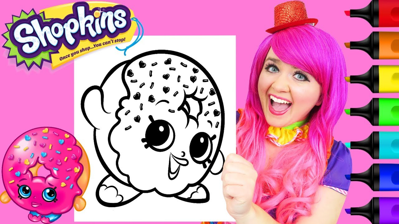 Coloring Shopkins D\'lish Donut Crayola Coloring Page Prismacolor Markers |  KiMMi THE CLOWN