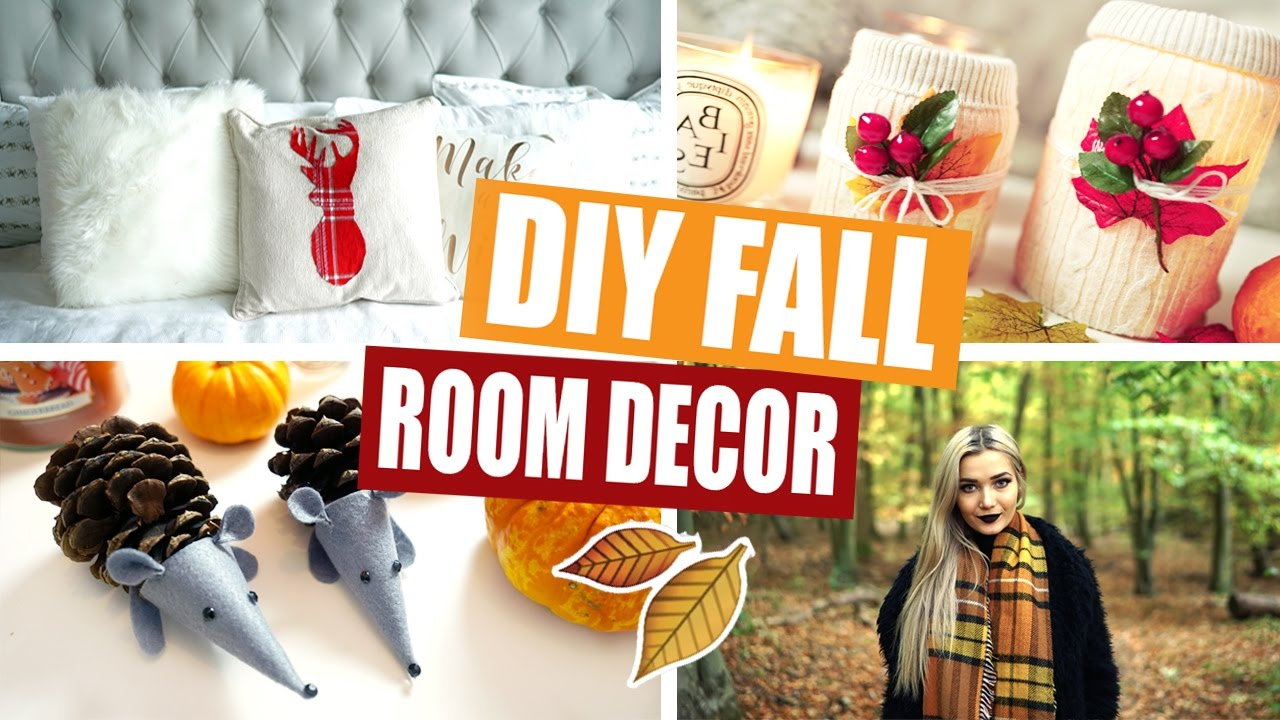 diy tumblr fall autumn room decor youtube