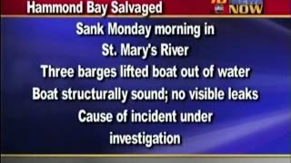 Tug boat salvaged from St  Marys River