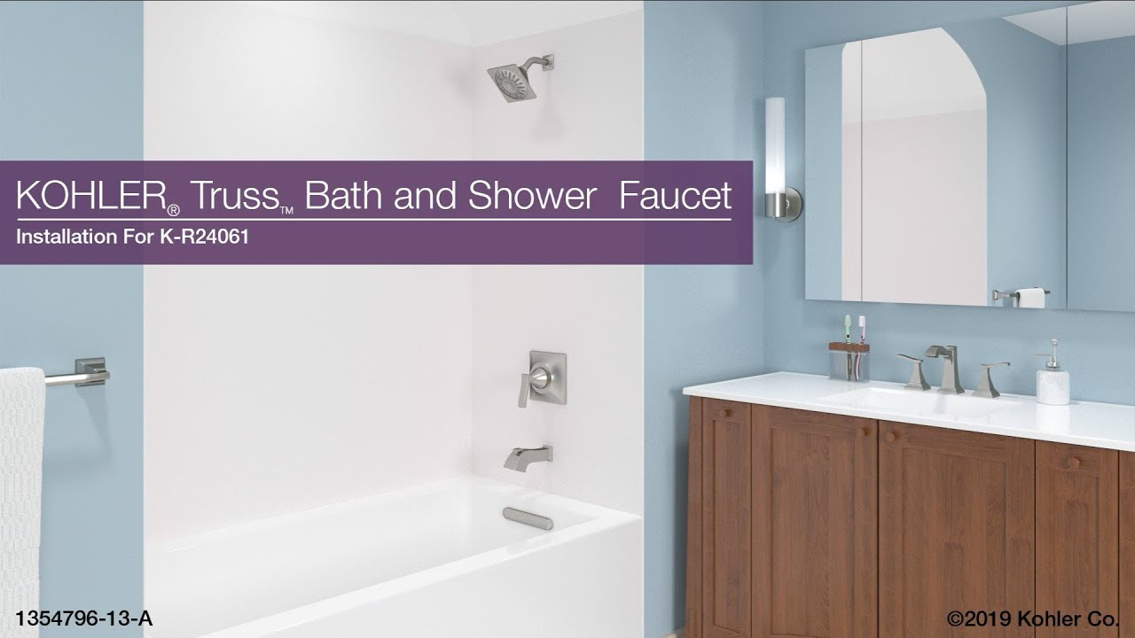 installation truss bath and shower faucet