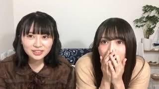 【欅坂46】長沢菜々香 渡辺梨加 showroom 20181109.