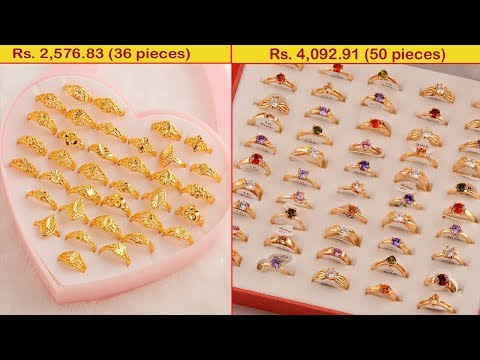 latest-women-gold-coated-finger-ring-designs-collections-2019-|-1-gram-gold-jewellery-designs-|-t.-f