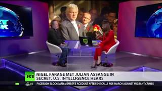 US intl reveals Farage met Assange in secret