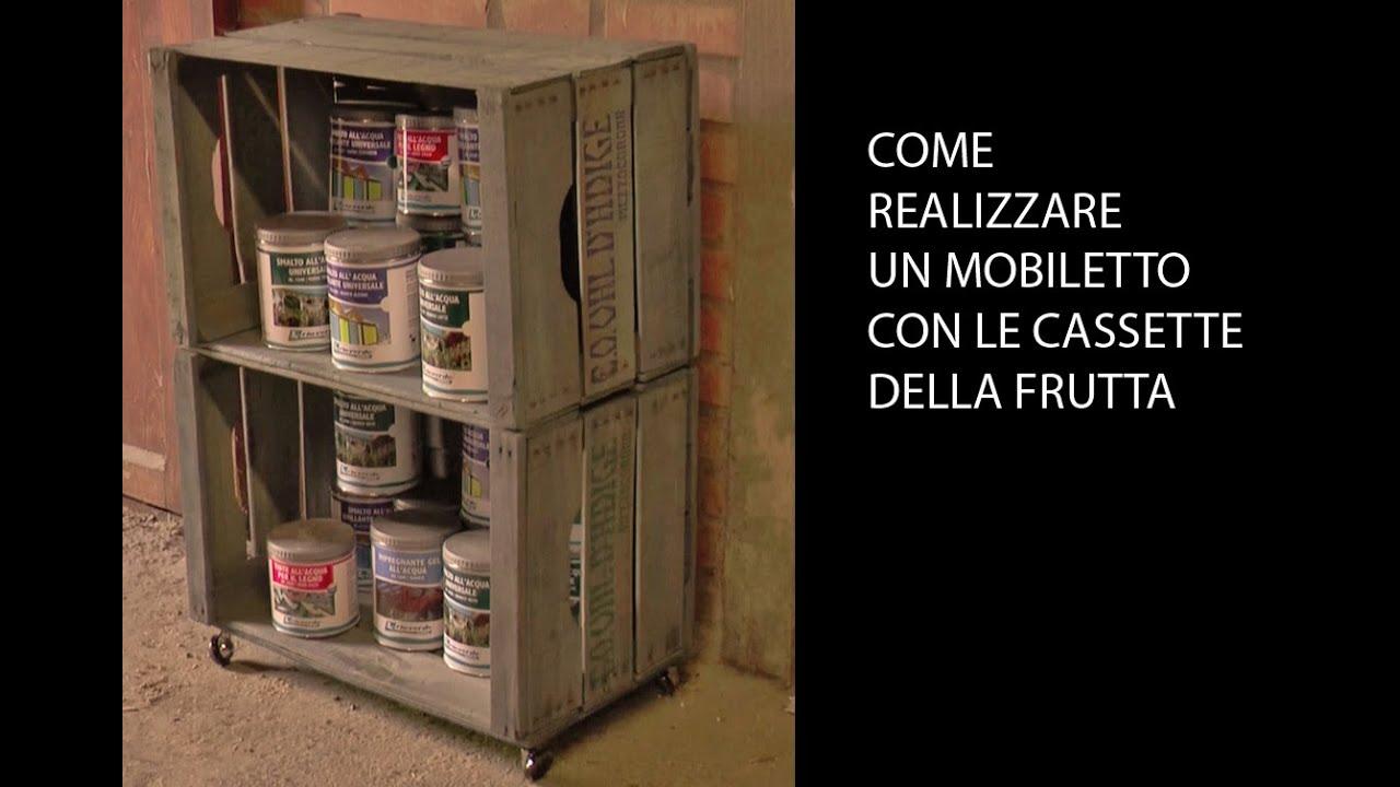 Credenza Con Cassette Frutta : Mobiletto con cassette della frutta e tinta allacqua youtube
