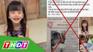 Thực hư thông tin bé gái ở Bình Dương bị bắt cóc