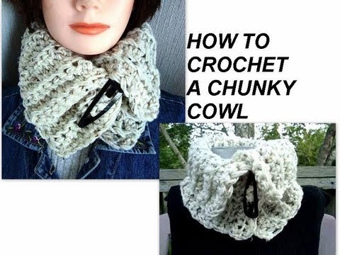 CROCHET A CHUNKY COWL, how to, free crochet pattern, accessories ...