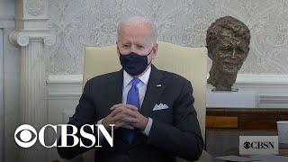 Biden criticizes Texas and Mississippi for lifting mask mandates