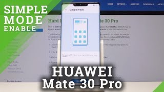 How to Enable Easy Mode in Huawei Mate 30 PRO - Enter / Quit Easy Mode