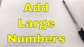 How To Add Large Numbers In Your Head-Mental Math Trick thumbnail